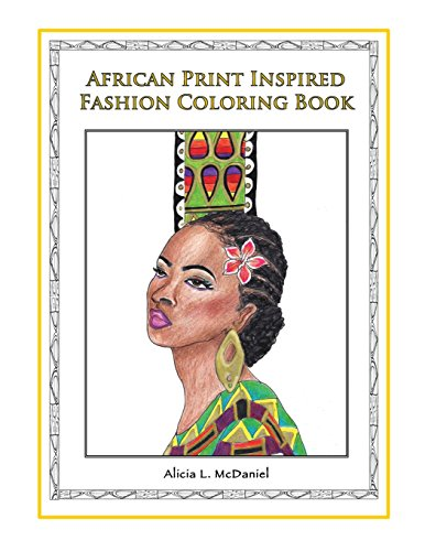 9780989182485: African Print Inspired Fashion Coloring Book