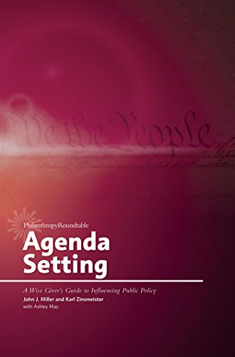 Agenda Setting: A Wise Giver's Guide to: John J. Miller,