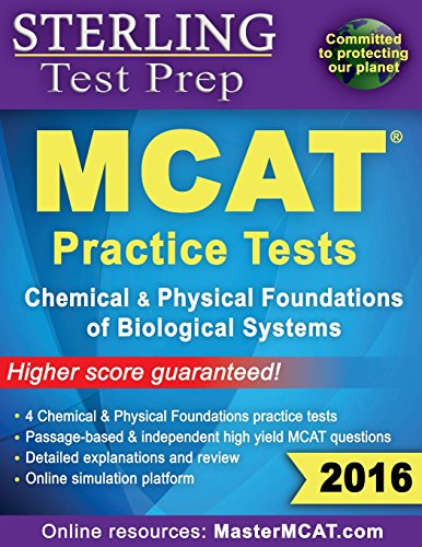 9780989292504: Sterling Test Prep MCAT Practice Tests: Chemical & Physical Foundations