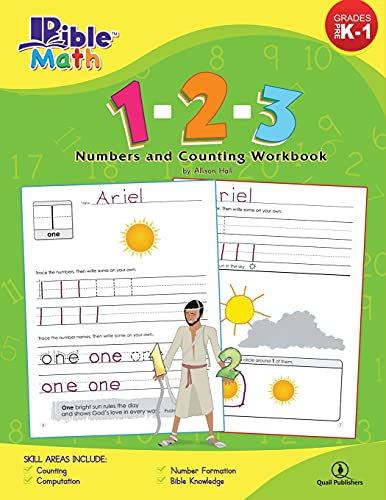 9780989462716: Bible Math: 1-2-3 Numbers and Counting Workbook (Bible Phonics)