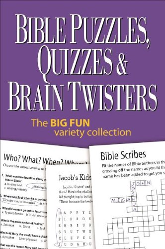 9780989580236: Bible Puzzles, Quizzes & Brain Twisters: The Big Fun Variety Collection