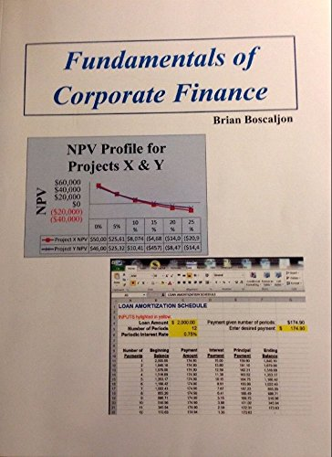9780989673037: Fundamentals of Corporate Finance [Paperback] [Jan 01, 2014] Brian Boscaljon ...