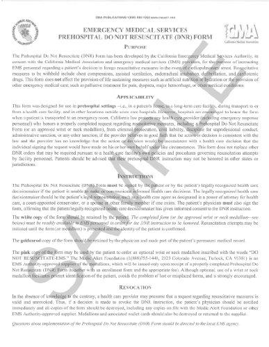 9780990397441: Do Not Resuscitate (DNR) Form (Spanish)