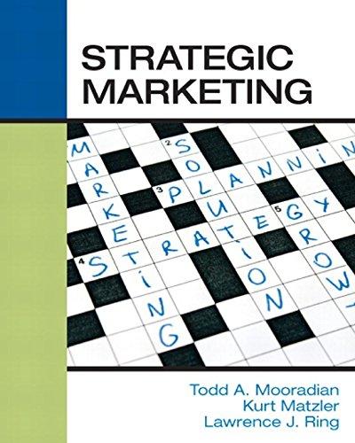 9780990542704: Strategic Marketing