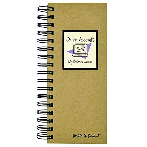 Online Accounts, My Password Journal - Mid Size: Journals Unlimited