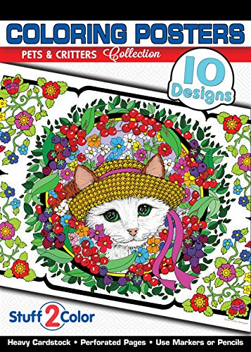9780990867807: Pets and Critters - Premium Coloring Poster Tablet (10 Designs)