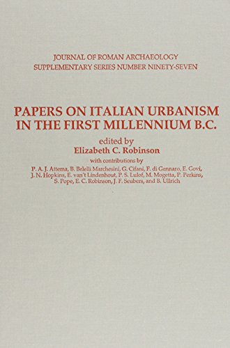 9780991373017: Papers on Italian Urbanism in the First Millennium B. C. (Journal of Roman Archaeology Supplementary Series)