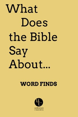 9780991392308: What Does the Bible Say About: Word Finds