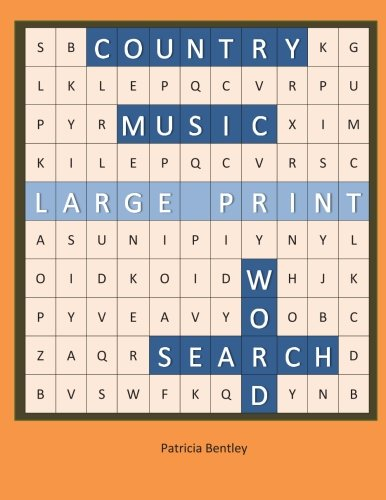 Country Music Large Print Word Search