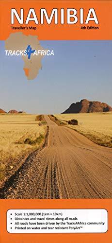 Namibia GPS-Tracks Karte 1 : 1 000 000: Tracks4Africa