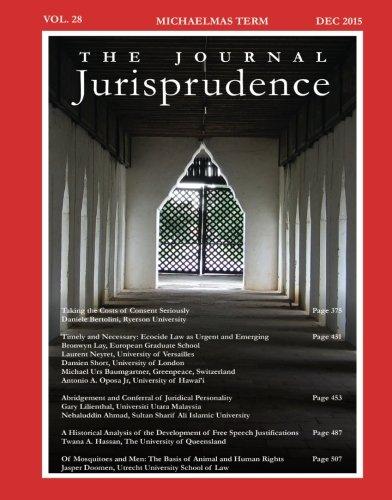 9780992540982: The Journal Jurisprudence, Vol 28