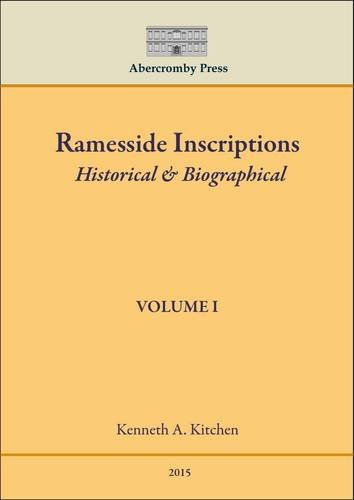 9780993092015: Ramesside Inscriptions: Historical & Biographical: 1
