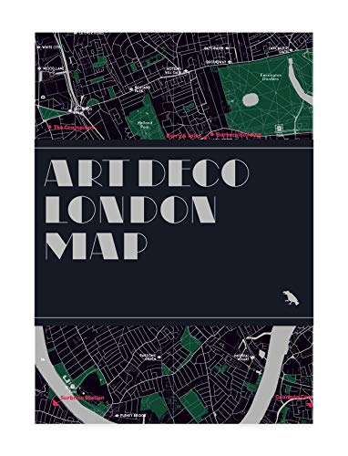 9780993193460: Art Deco London Map