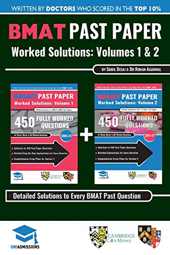 9780993231148: BMAT Past Paper Worked Solutions: 2003 - 2017, Fully worked answers to 900+ Questions, Detailed Essay Plans, BioMedical Admissions Test Book: BMAT ... BioMedical Admissions Test, UniAdmissions