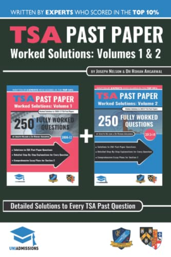 TSA Past Paper Worked Solutions: 2008 -: Nelson, Joseph and