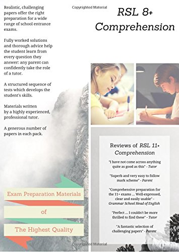 RSL 8+ Comprehension: Practice Papers with Detailed: Robert Lomax