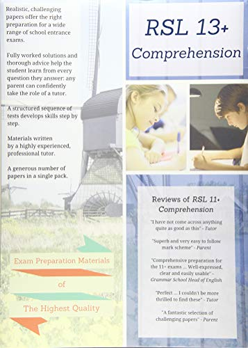 RSL 13+ Comprehension: Practice Papers with Detailed: Robert Lomax