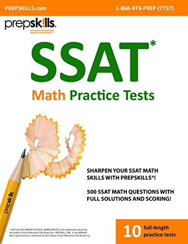 9780993719394: Prepskills® SSAT Math Practice Tests with full solutions and scoring