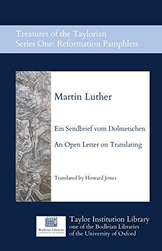 Ein Sendbrief vom Dolmetschen - An Open: Martin Luther