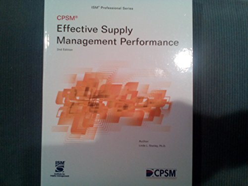 9780996043427: Effective Supply Management Performance