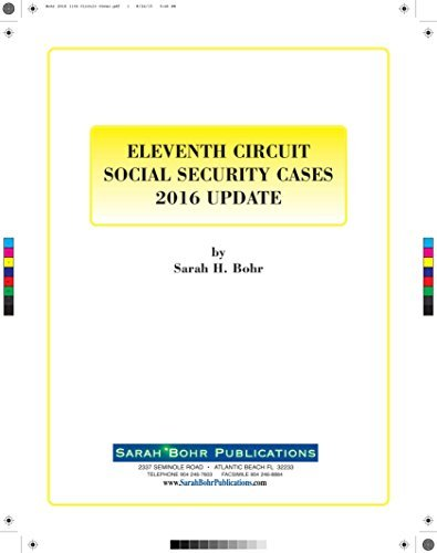 9780996223454: Eleventh Circuit Social Security Cases 2016 Update CD-Rom