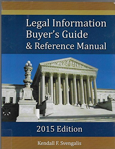 9780996352406: Legal Information Buyer's Guide & Reference Manual 2015 Edition