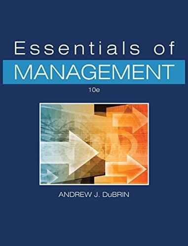 Essentials of Management (Hardback): Andrew J DuBrin