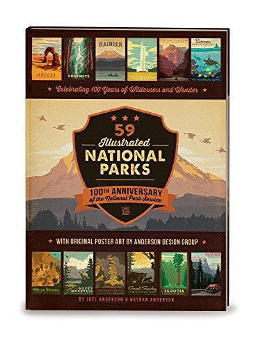 9780996777704: 59 Illustrated National Parks - Hardcover: 100th Anniversary of the National Park Service