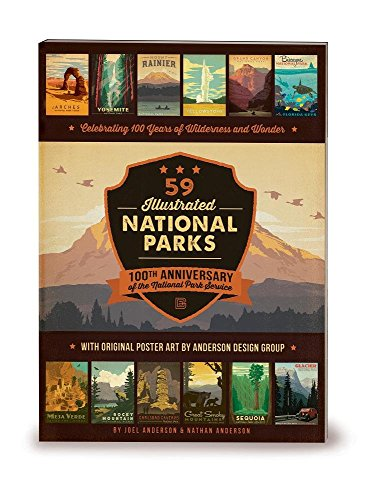 9780996777711: 59 Illustrated National Parks - Softcover: 100th Anniversary of the National Park Service