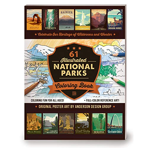 59 Illustrated National Parks Coloring Book By Anderson