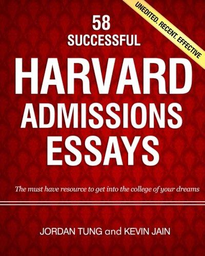 harvard admissions essays book