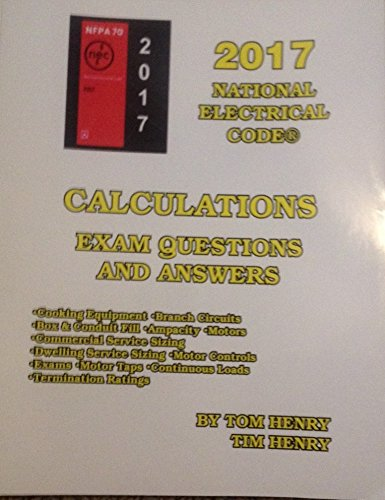 9780997885798: 2017 Calculations for the Electrical Exam by Tom Henry