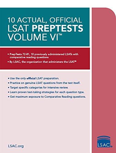 9780998339788: 10 Actual, Official LSAT PrepTests Volume VI: (PrepTests 72–81)