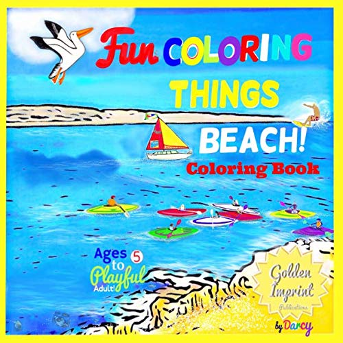Beach Coloring Book: Fun Coloring Things