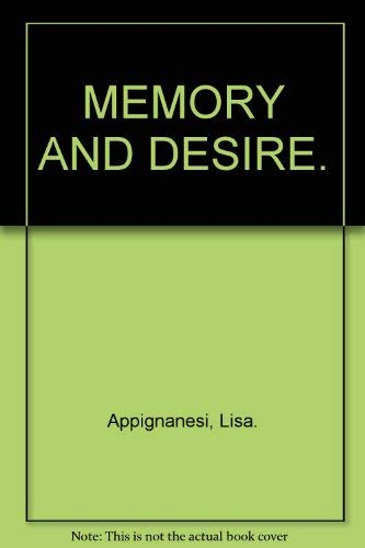 9780999917664: MEMORY AND DESIRE