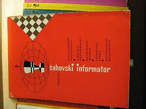 9781000229912: Chess Informant # 4 (Sahovski Informator/Chess Informant, 4)