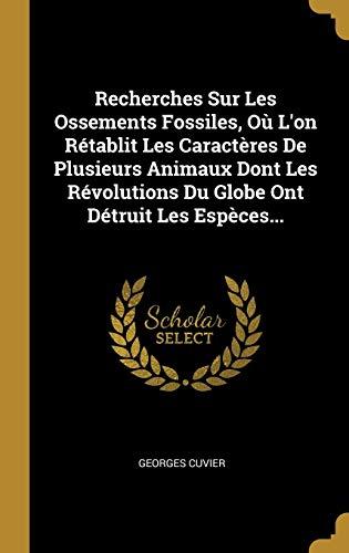 9781011484287: Recherches Sur Les Ossements Fossiles, Où L'on Rétablit Les Caractères De Plusieurs Animaux Dont Les Révolutions Du Globe Ont Détruit Les Espèces...