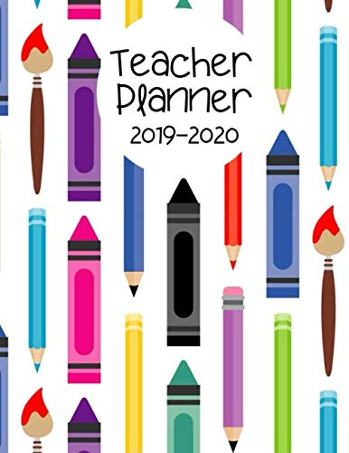 9781070929958: Teacher Planner 2019-2020: Record Keeper and Grade Book. Weekly Lesson Planner for the Academic Year. Time Management Help for Teachers. 7 Period Lesson Plan Organizer. Colorful Crayon Cover.