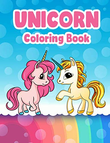 9781072550655: Unicorn Coloring Book: Fun Activity For Kids Ages 4-8 9-12 Great Gift 30 Unique Illustrations 2 Sets Single Side Print