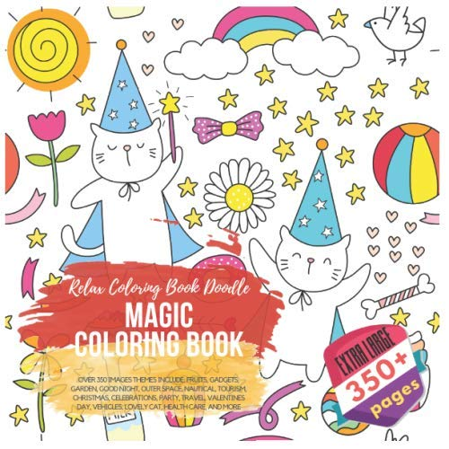 Magic Coloring Book. Relax Coloring Book Doodle.: Young, Scarlett