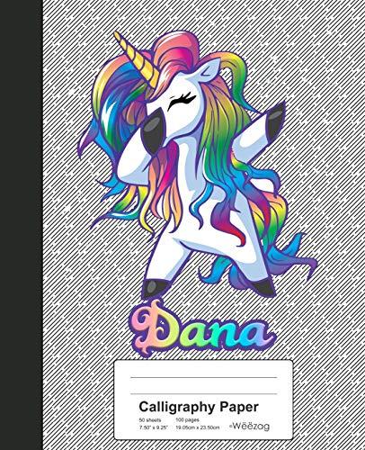 9781073714247: Calligraphy Paper: DANA Unicorn Rainbow Notebook: 548 (Weezag Calligraphy Paper Notebook)