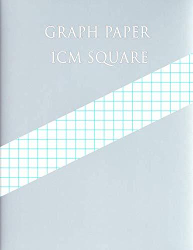 graph paper 1 cm square  1 square  centimeter  200 pages