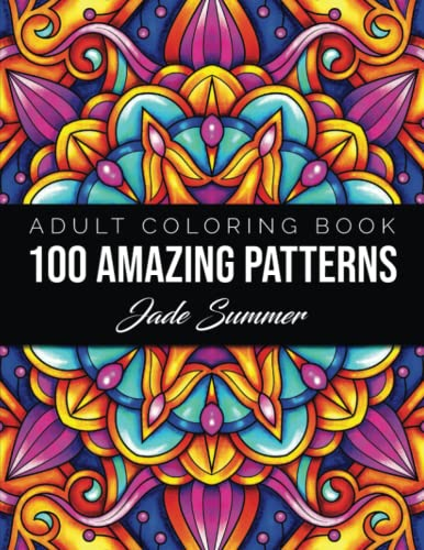 9781079520019: 100 Amazing Patterns: An Adult Coloring Book with Fun, Easy, and Relaxing Coloring Pages