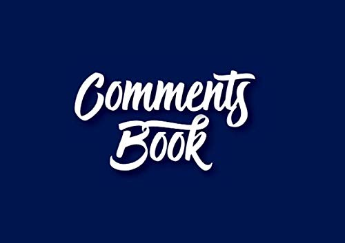 9781080627455: Comments Book for Visitors and Guests