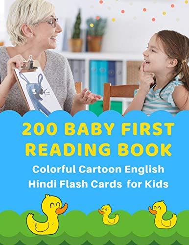 200 Baby First Reading Book Colorful Cartoon: Schoolist Studio