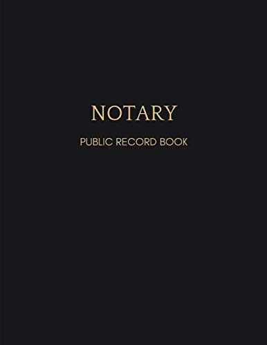 9781090555366: Notary Journal: Black Notary Public Record Book