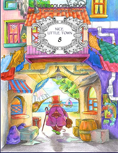 9781091673953: Nice Little Town 8: Adult Coloring Book (Stress Relieving Coloring Pages, Coloring Book for Relaxation)