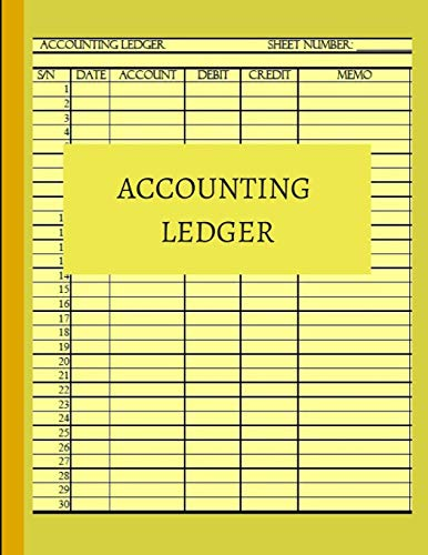 Accounting Ledger: Basic ledger book for monthly: AccountsPub, Simple