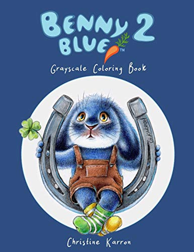 9781095829394: Benny Blue 2 Grayscale Coloring Book