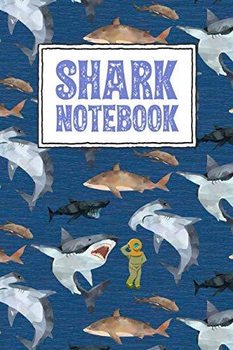 Shark Notebook: Shark Themed Wide Ruled School: Boys, Composition Notebooks